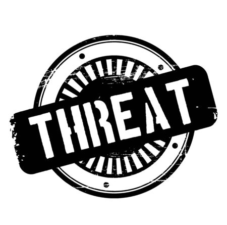 THREAT stamp on white background. Stickers and stamps series.
