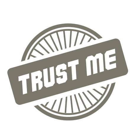 TRUST ME stamp on white background. Stickers and stamps series. 向量圖像