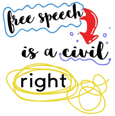 Free Speech Is A Civil Right Vectores