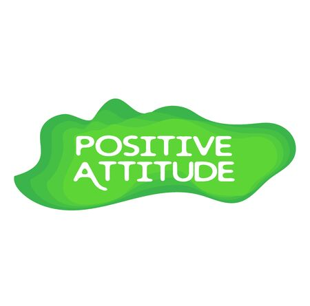 POSITIVE ATTITUDE stamp isolated on white. Stamps and stickers series. Illustration