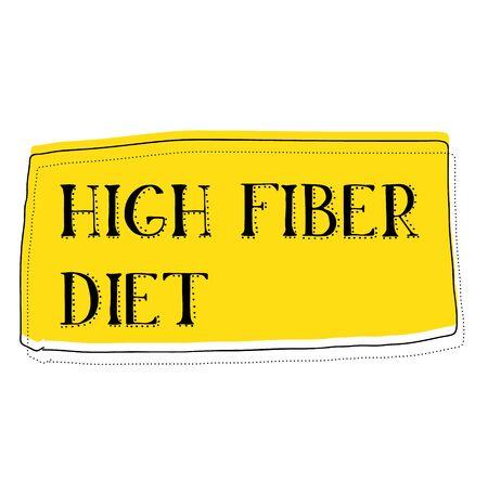 HIGH FIBER sign on white background. Sticker, stamp