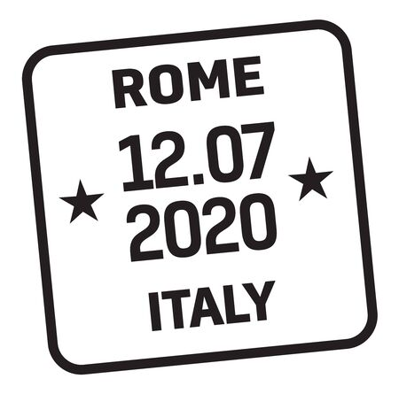 ROME, ITALY mail delivery stamp isolated on white background. Postage signs series. Stock fotó - 149452035