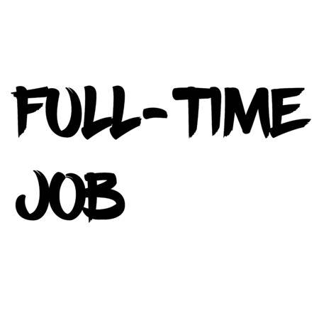 FULL-TIME JOB sign on white background. Sticker, stamp Stock Illustratie