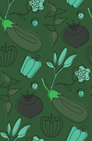 Food pattern seamless design. Surface pattern design series for home and living. Ilustracja