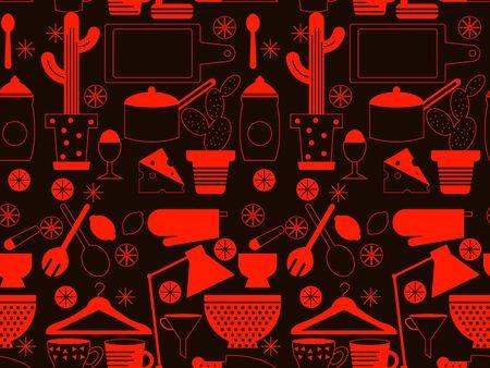 Kitchen pattern seamless geometric design . Kitchen and home decoration series.