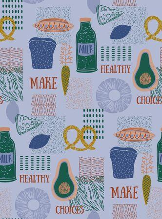 Kitchen pattern seamless design. Decoration textile and paper series 版權商用圖片 - 149490128