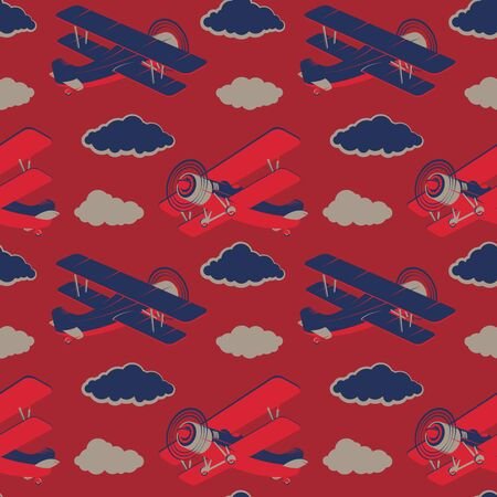 set of vintage airplanes icons. Aircraft illustrations. Design element for logo, label, emblem, sign. Vector illustration.