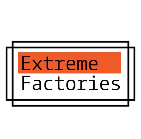EXTREME FACTORIES label on white background