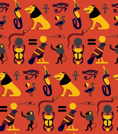Egypt pattern seamless design. Decoration textile and paper series