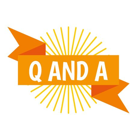 Q AND A Stock Illustratie