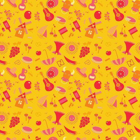 Spain pattern seamless design. Decoration textile and paper series