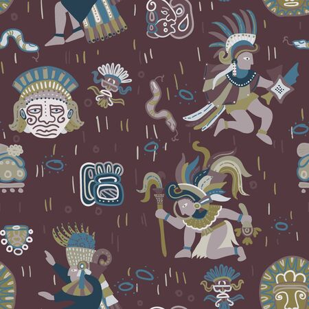 Incas pattern seamless design. Decoration textile and paper series