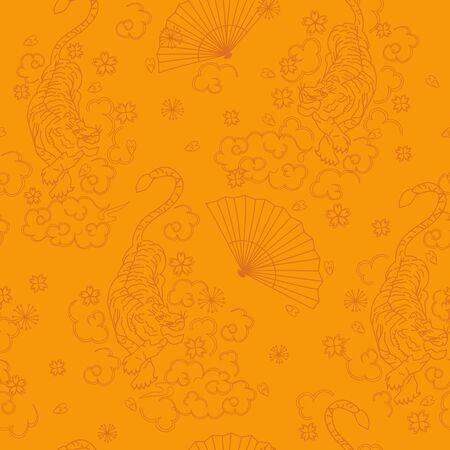 japan pattern seamless design. Decoration textile and paper series Çizim