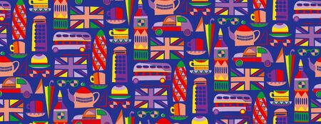London pattern seamless design. Decoration textile and paper series