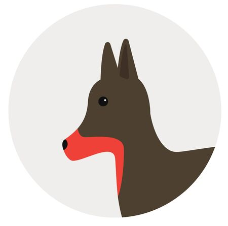small english terrier , illustration on white background