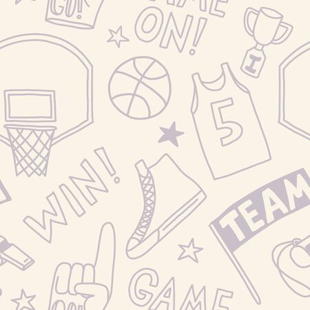 basketball pattern seamless design. Decoration textile and paper series Banco de Imagens - 150368251