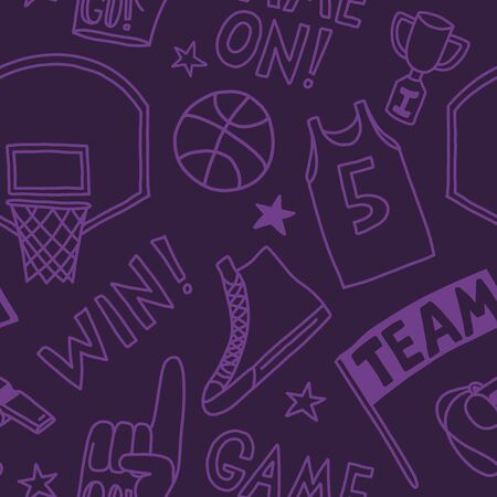 basketball pattern seamless design. Decoration textile and paper series