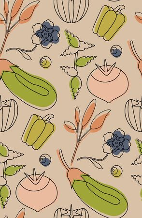 Food pattern seamless design. Surface pattern design series for home and living. Ilustração