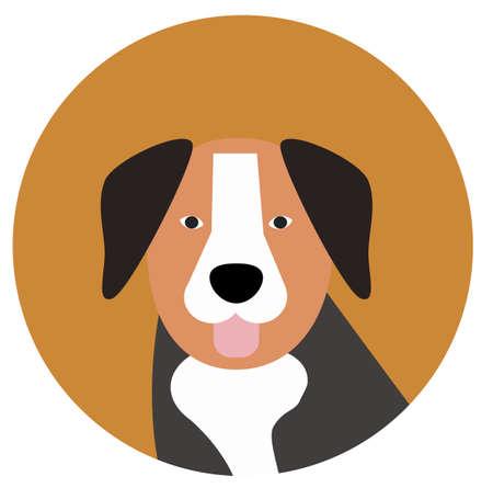 bernese mountain dog , illustration on white background Ilustração