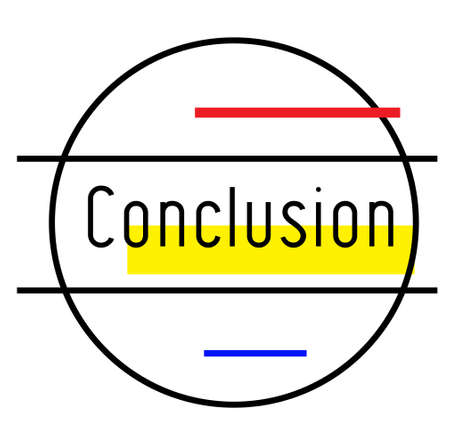 CONCLUSION stamp on white background. Stickers labels and stamps series. Çizim