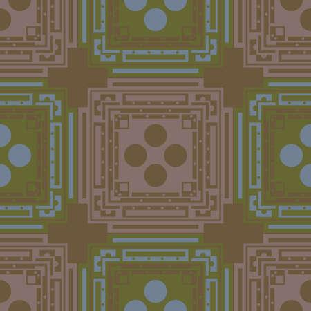 Rectangular geometric computer generated seamless design Banco de Imagens - 150578526