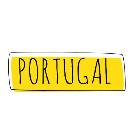 PORTUGAL typography illustration