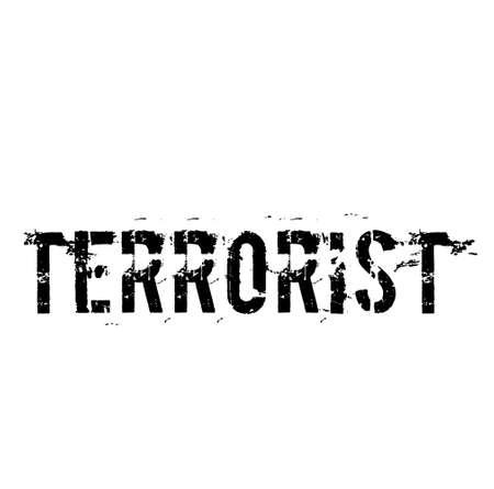 TERRORIST typography illustration Banco de Imagens - 150578552