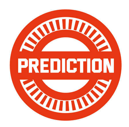 PREDICTION stamp symbol illustration Illustration