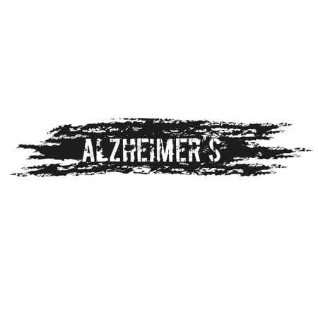 ALZHEIMER'S sign illustration