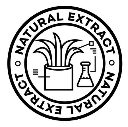 Natural Extract isolated on white sign , badge, stamp