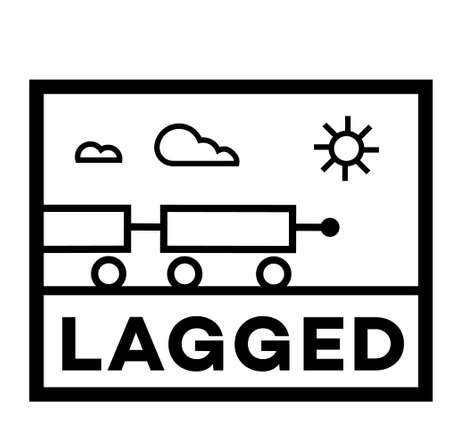 Lagged isolated on white sign , badge, stamp 向量圖像