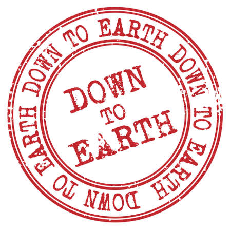 Down To Earth isolated on white sign, badge, stamp 向量圖像