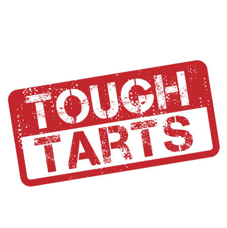 Tough Tarts isolated on white sign, badge, stamp