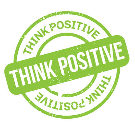 Think Positive isolated on white sign, badge, stamp 向量圖像