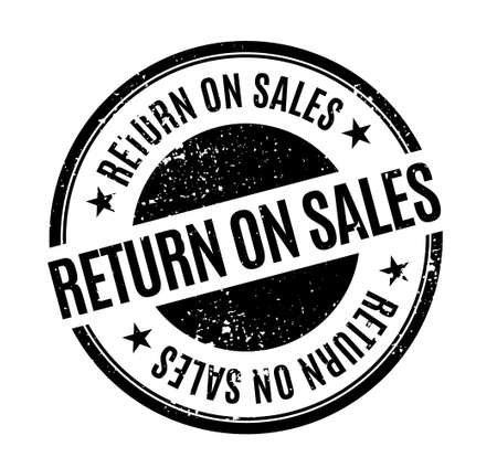 Return on Sales isolated on white sign, badge, stamp
