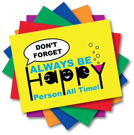 HAPPY QUOTE ON CARD Stock Vector - 27045959
