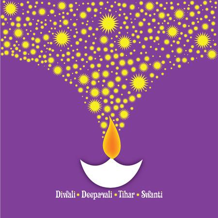 Diwali Deepavali - oil lamp Vector