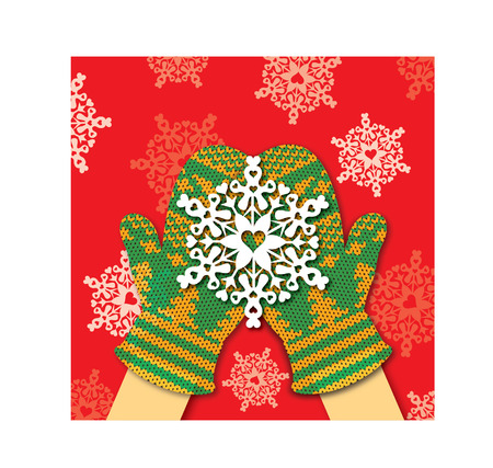 christmas motif: Share the love like the snow Illustration