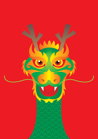 god of wealth chinese new year: happy Dragon