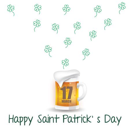 Beer for St. Patrick s day Illustration