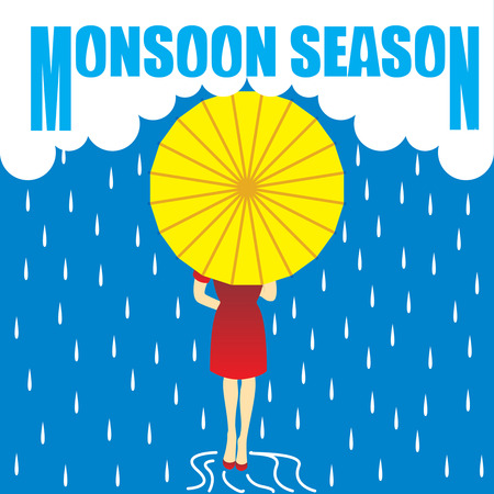 Monsoon Raining Season Çizim