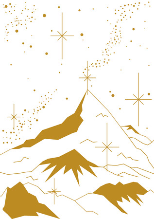 Mountain Peak of the Night Christmas Stock Illustratie