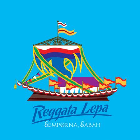 Reggata Lepa festival at Semporna, Sabah 向量圖像