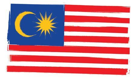 Malaysia flag painting landscape