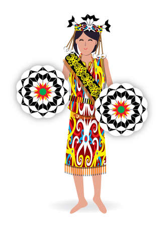 Datun Julud is a traditional dance performed by orang Ulu's female with the Kirep's decoration in Sarawak.