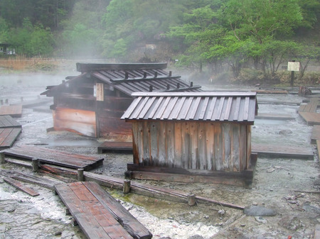 Japanese hot springs in a secluded area photo