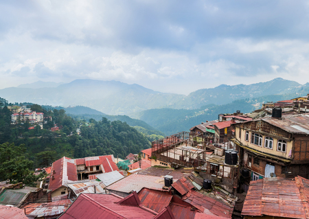 porter house: Mountains village in Himalayas, India