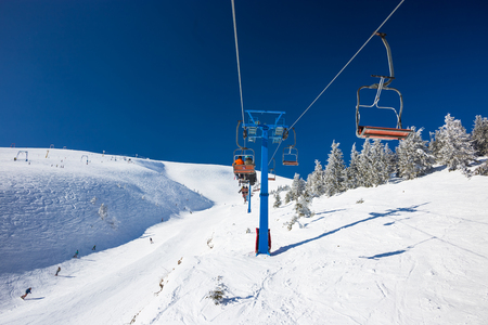 Mountains ski resort - nature and sport picture Stock Photo