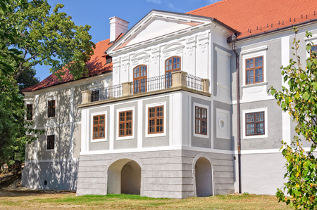 episcopal: The former Bishop`s Palace in Sumeg , Hungary photographed from the garden Editorial