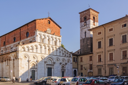 The Romanesque Church of Santa Maria Bianca, also known as Santa Maria Forisportam, in Lucca, Tuscany, Italy - 29 September 2011 Редакционное